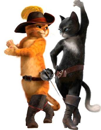 El Gato Con Botas Y Kitty Con Imagenes Gato Con Botas Pelicula