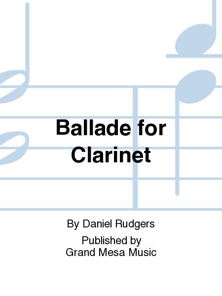 Ballade for Clarinet