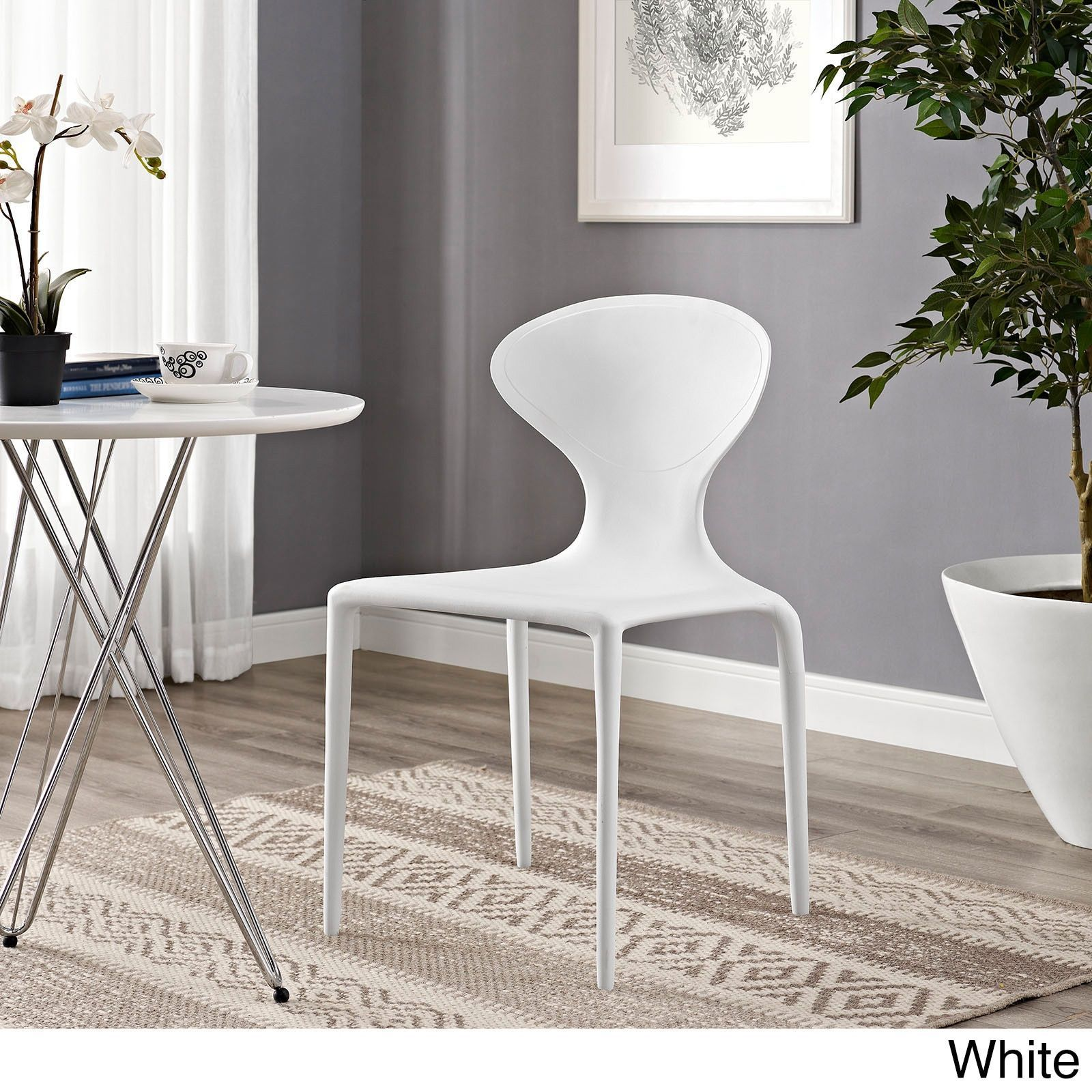 Miraculous Modway Draw Dining Chair White Plastic Products Uwap Interior Chair Design Uwaporg