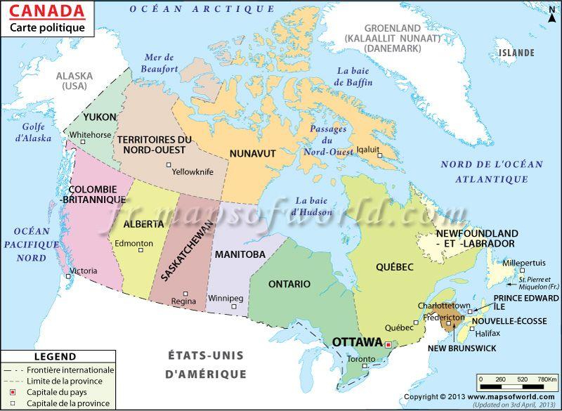 Canada Carte Du Monde.Carte Du Canada Maps Kanada Karten Et Nordamerika