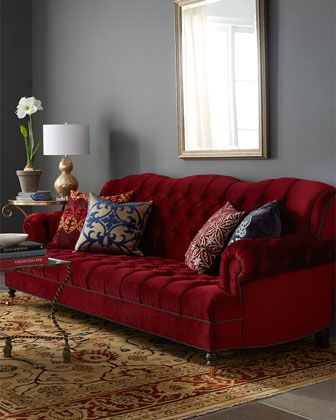 Mr Smith Cranberry Sofa Grey Walls Grey And Red Sofa