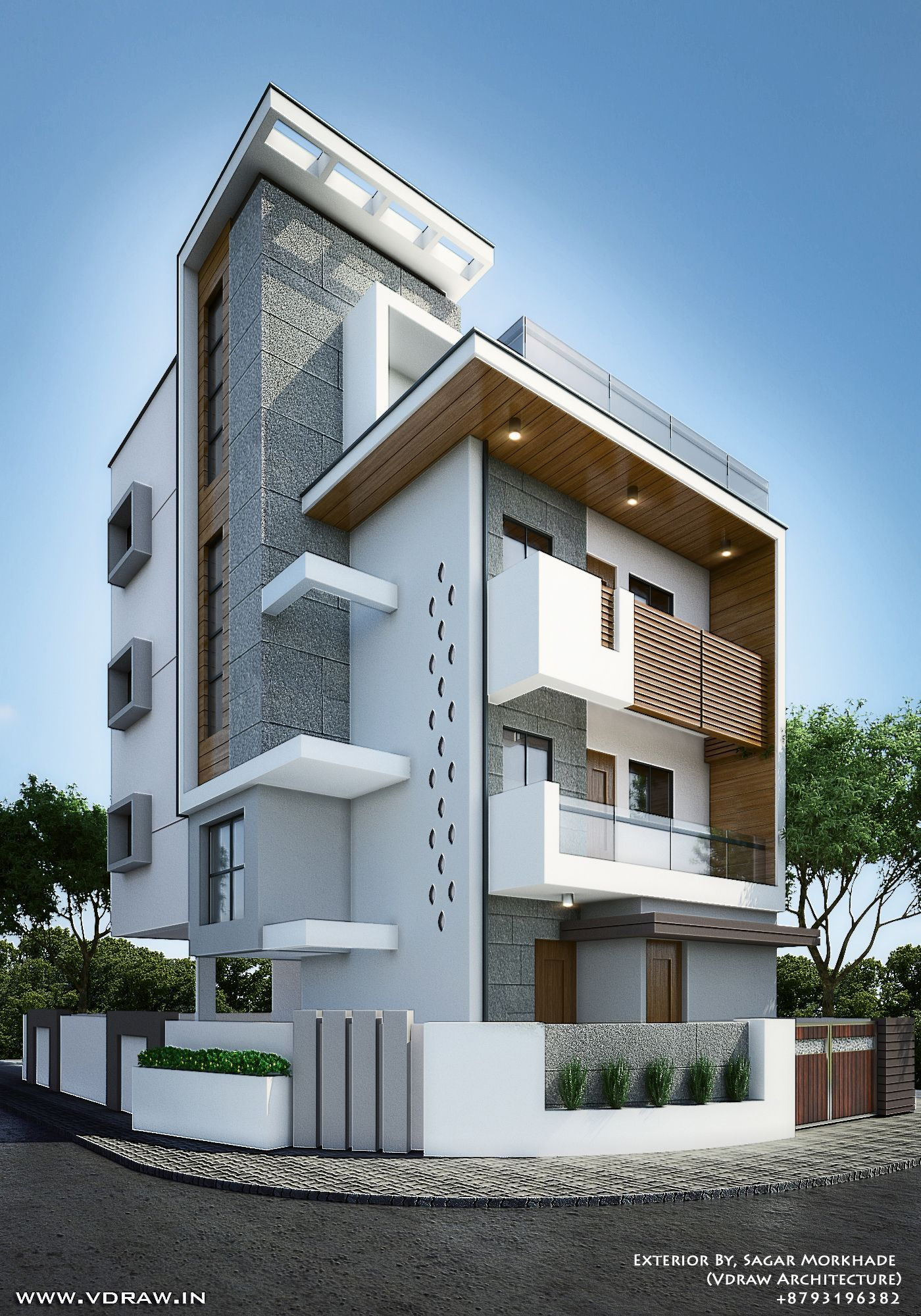 Exterior By, Sagar Morkhade (Vdraw Architecture) +8793196382 (With Images)