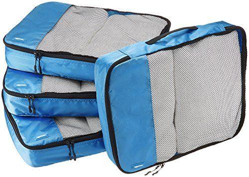 Amazonbasics Lot De 4 Sacoches De Rangement Pour Bagage Taille L Sacoches Cubes D Emballage Et Sac