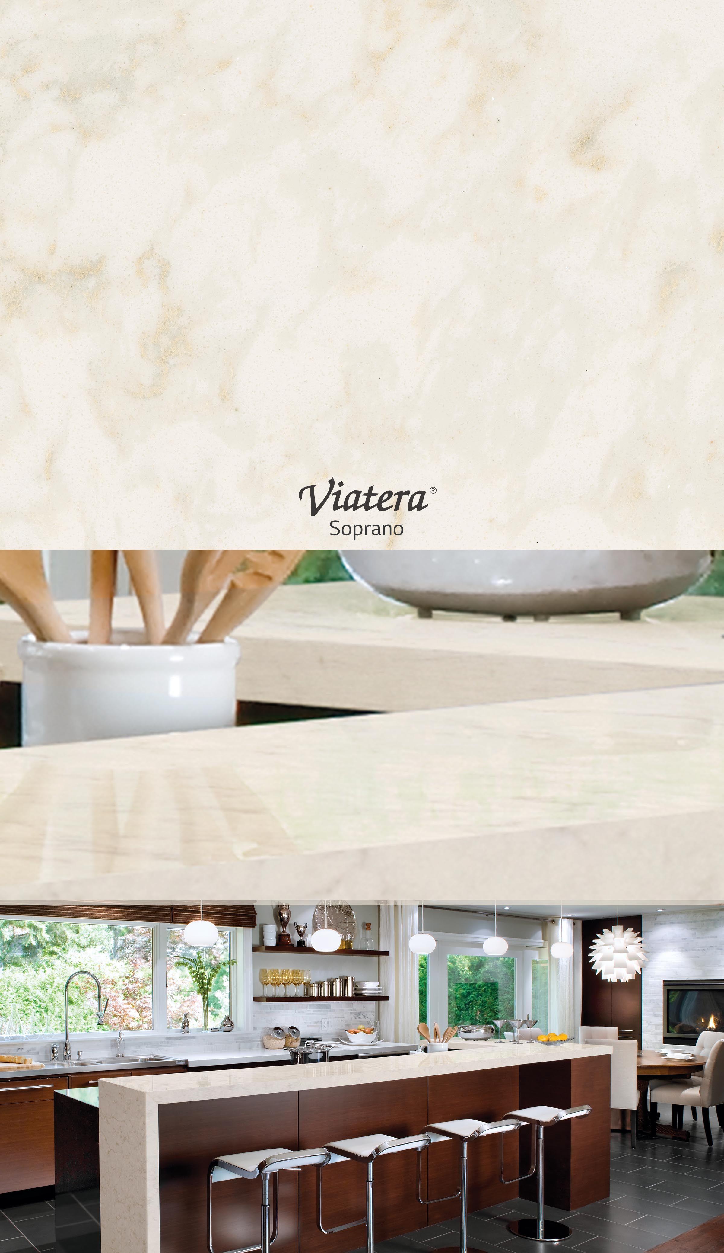 Viatera Soprano l Quartz countertop | White Inspiration | Pinterest ...