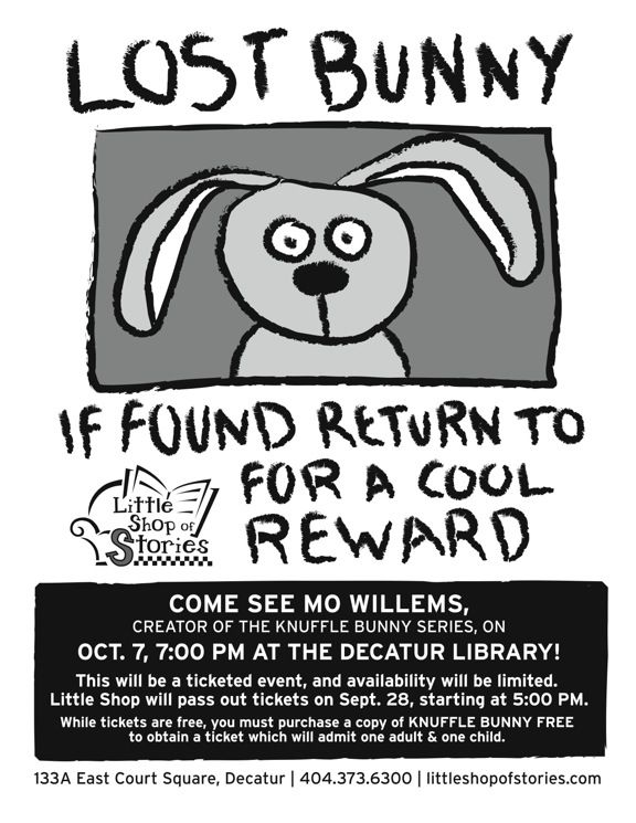 knuffle bunny make reward poster for lost stuffed animals connect