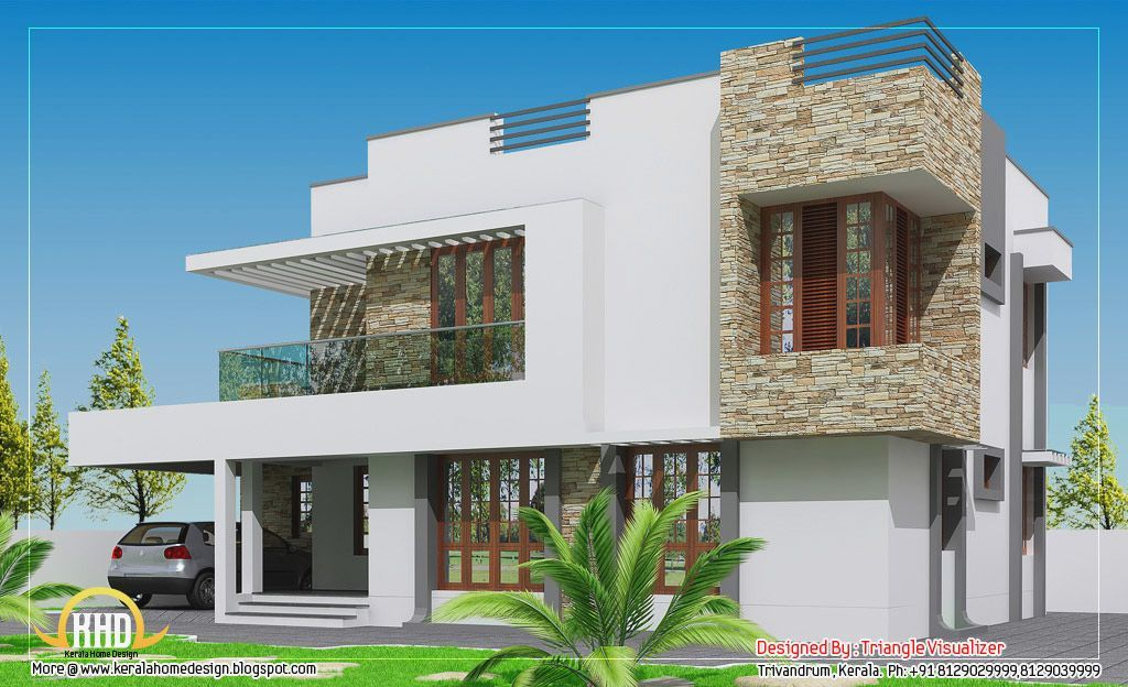 Kerala contemporary house designs info about this house for Contemporary indian house elevations
