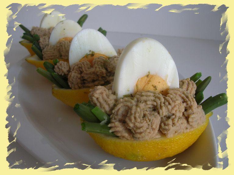 Barchette di limone ripiene al tonno | Il Pettirosso che ...