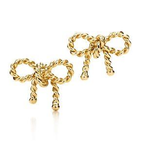Tiffany Twist Bow Earrings In 18k Gold