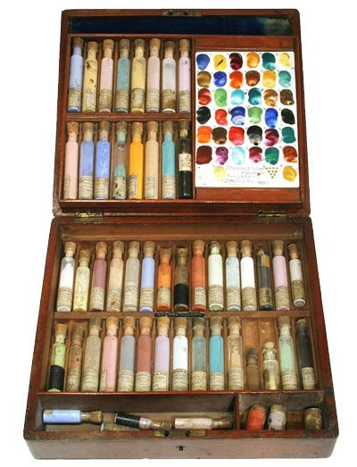 Pigments In Theses Corked Vials Art Kit Watercolor Pallet
