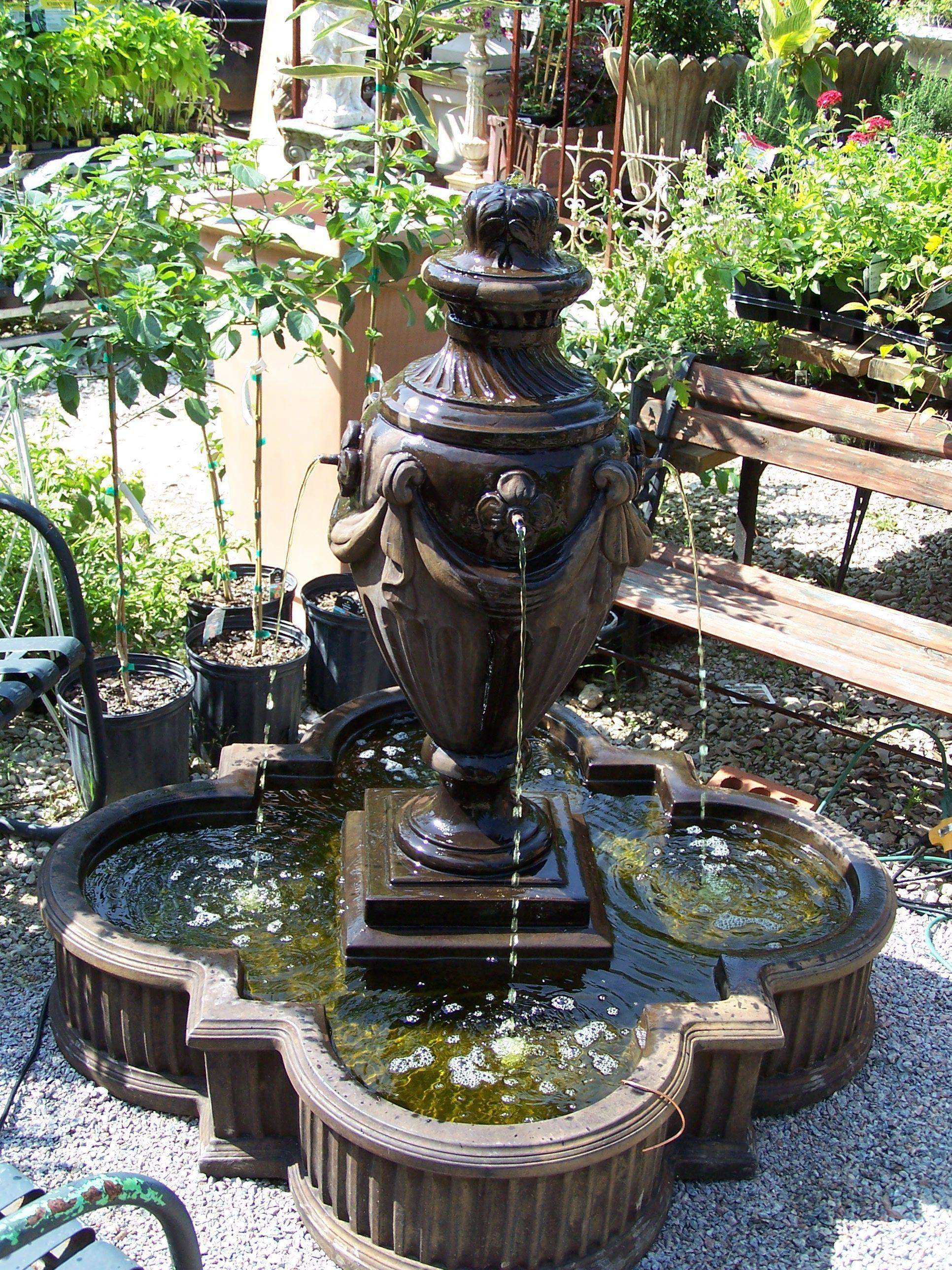 Urn Style Fountain Vista Garden Fountain Outdoor Decor