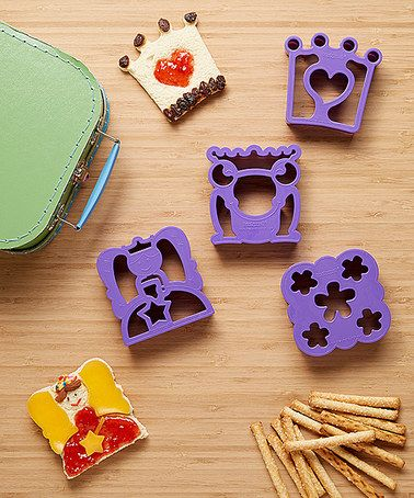 Another great find on #zulily! Purple Fairy Tale Sandwich Cutter Set…