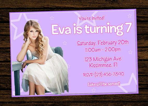 Get Taylor Swift Birthday Party Invitations Download this invitation
