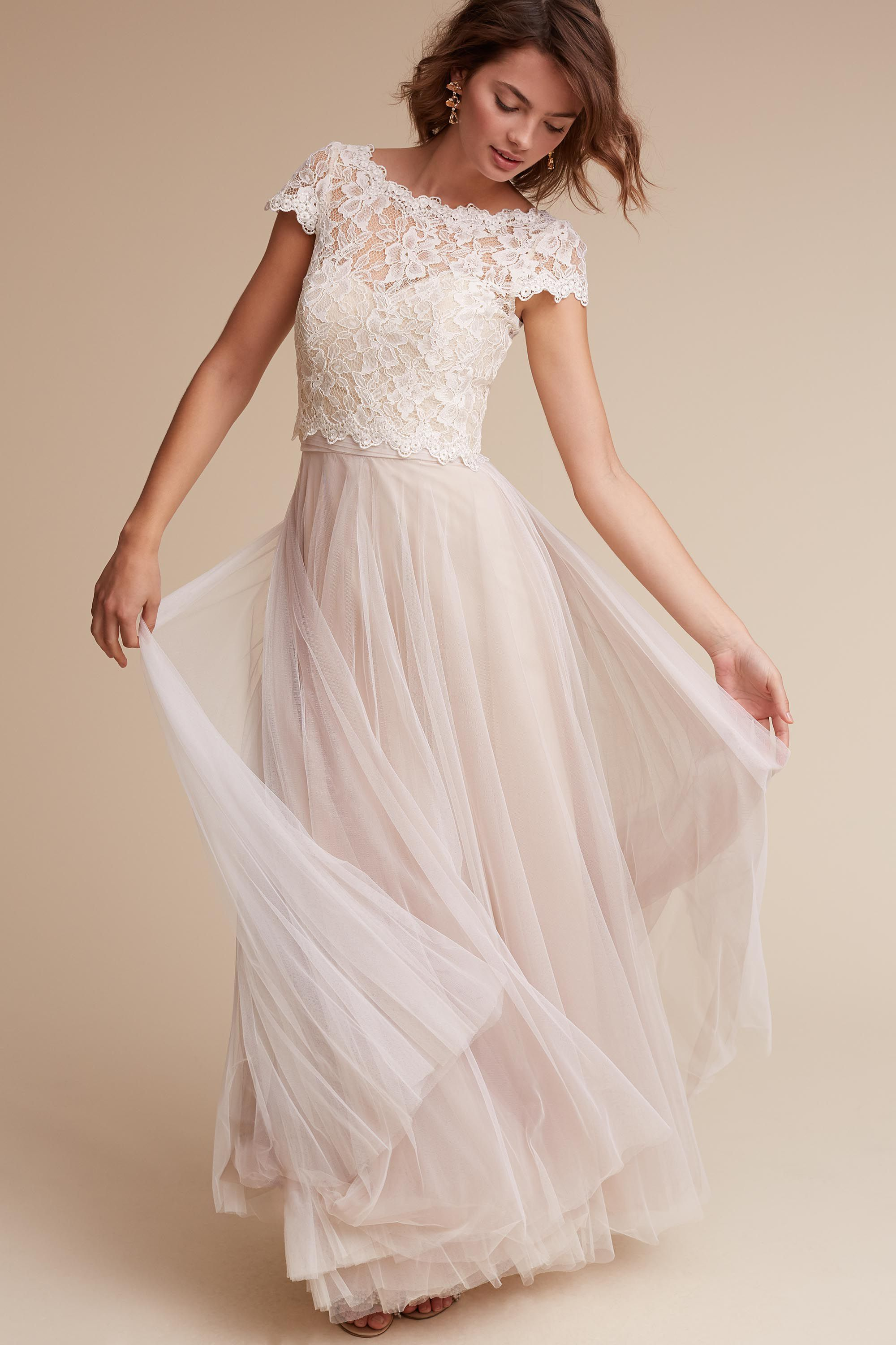 Bhldn sydney topper in bride bhldn top picks for my actual a line two piece long tulle lace simple wedding dress sold by prom dress shop shop more products from prom dress shop on storenvy the home of independent ombrellifo Images