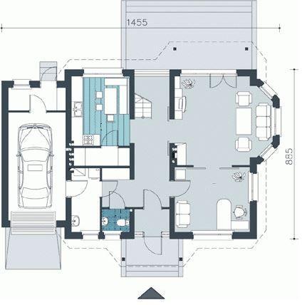 Plano de casa de dos pisos de 14 x 9 metros planos - Planos de casas de dos pisos ...