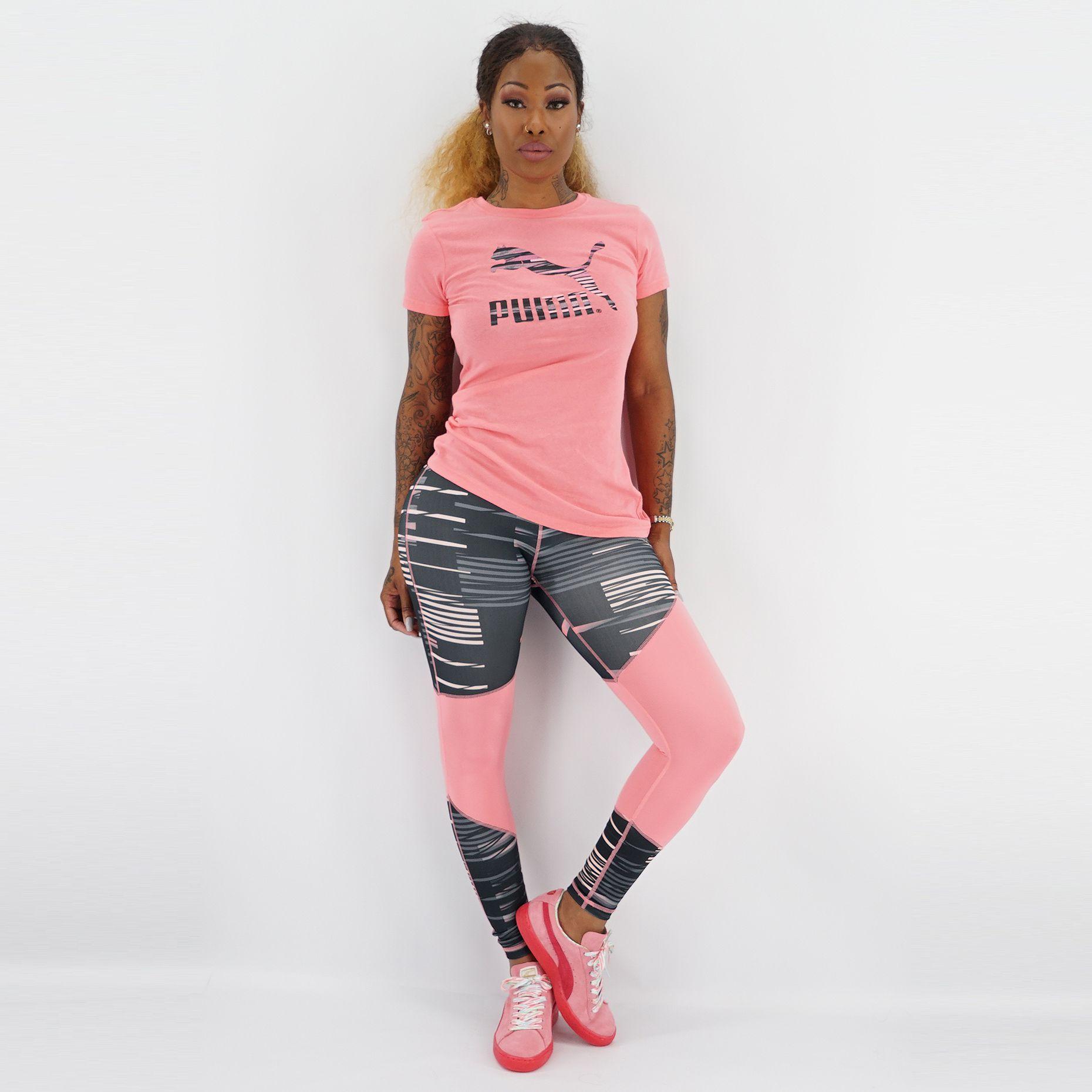 Women's  Puma x Clash Long Tight Pant x Suede Classic Lo Coast x LRG Logo Tee   Shop at YCMC.com #PUMA #Athletic #CasualWear #GraphicTankTop #ClashLongTightLeggings #SneakerChicks #Summer2015 #Streetwear #MissYCMC #AprilDivahStyle
