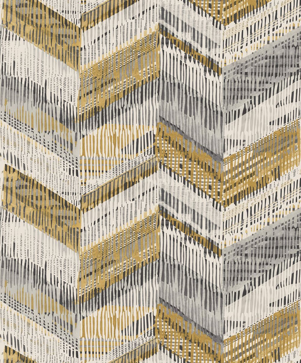 Chevron weave wallpaper in new lounge