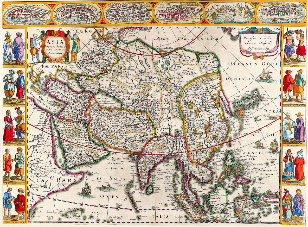 Old maps of the world maps pinterest asia and celtic culture old maps of the world gumiabroncs Choice Image