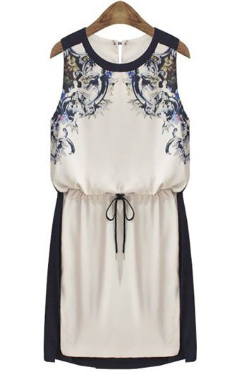 Drawstring Floral Sundress