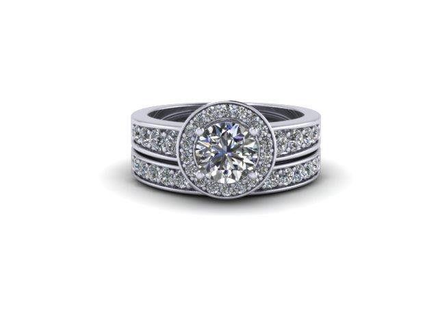 Custom Design Halo Style Wedding Set – Dana's Goldsmithing