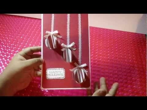 Tarjeta Navidena Con Esferas 3d Facil Y Original Youtube Videos - Tarjeta-navidea-original