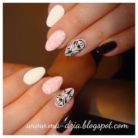 Stylizacja Paznokci I Rzes Magdalena Sawica Zel 3 Zele Kolorowe Recznie Malowane Wzory Nails Beauty