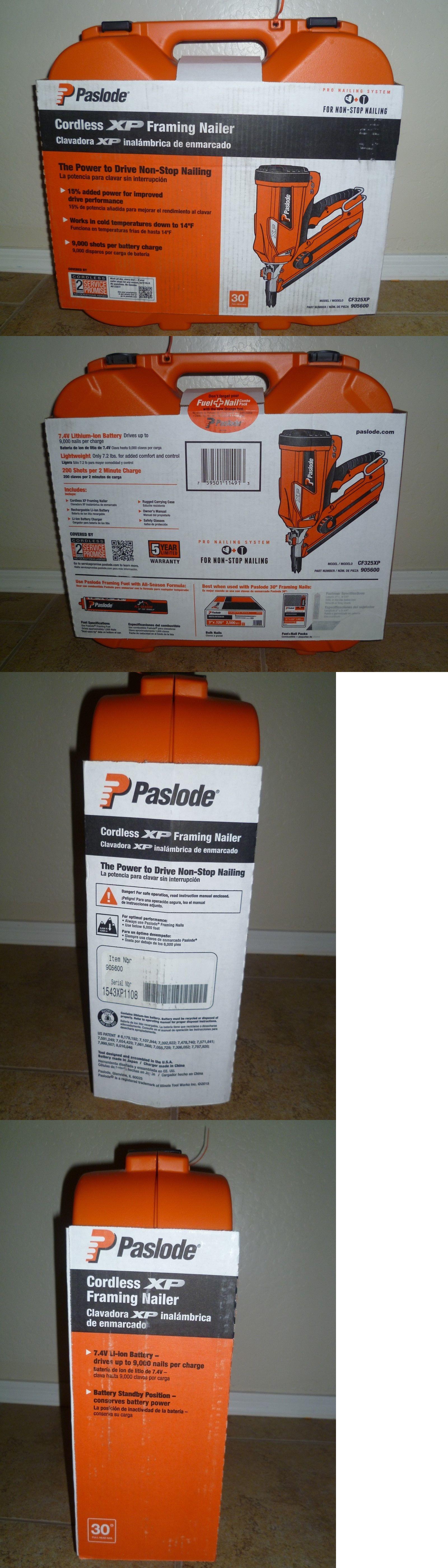 Framing Guns 50378: Paslode Cf325xp 905600 Cordless Lithium-Ion 30 ...