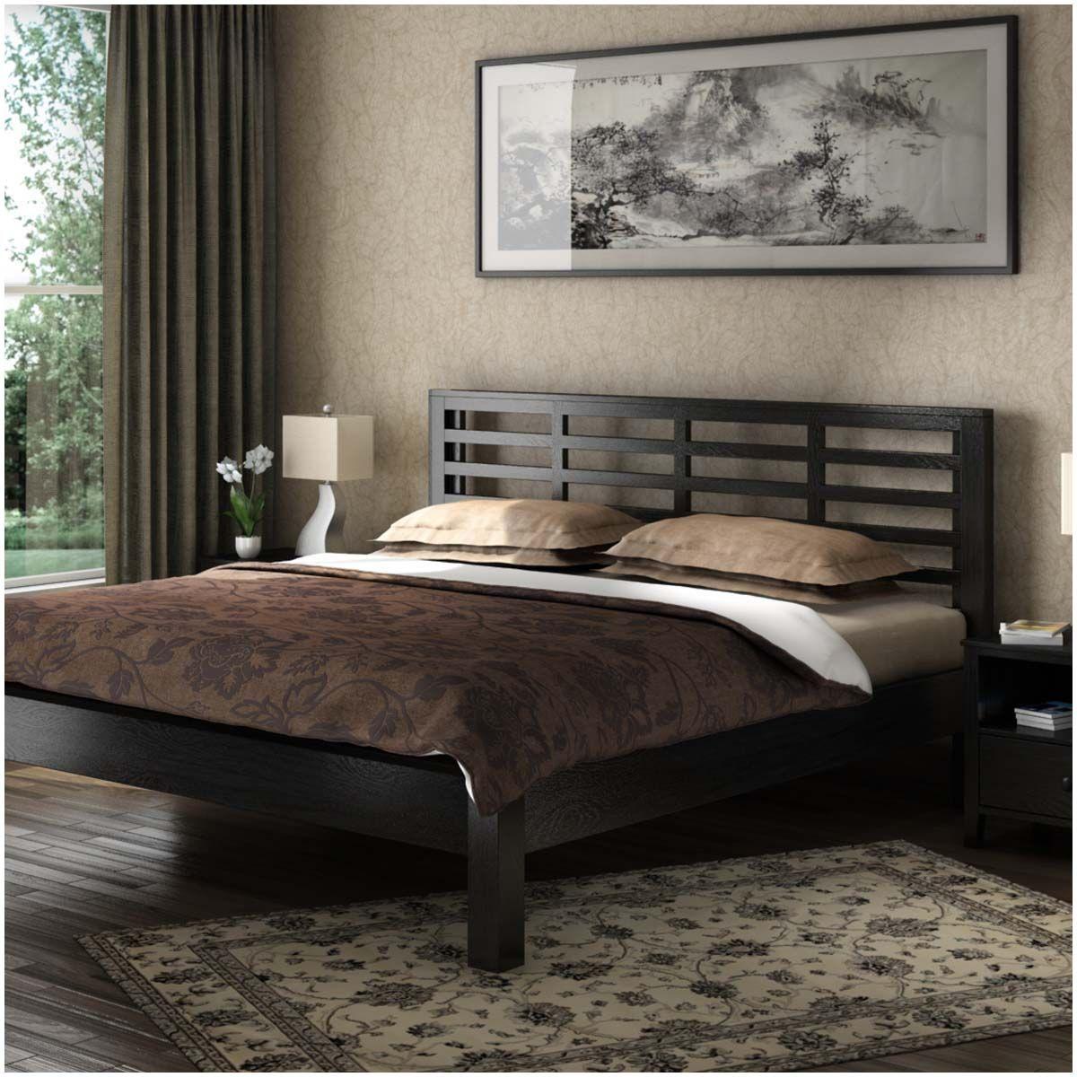 Modern Midnight Solid Wood Platform Bed Frame Solid wood