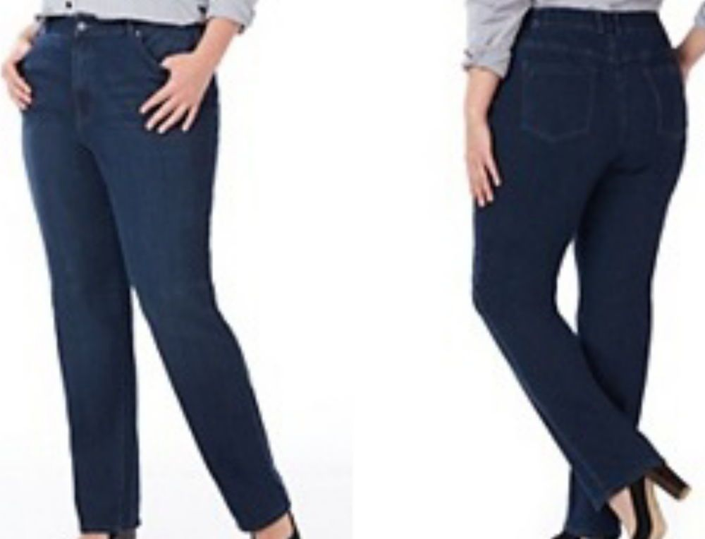 3a54d59345423 Bourbon Wash Right Fit Curvy Denim Jeans Size 22W Pants by Catherines NWT   Castherines