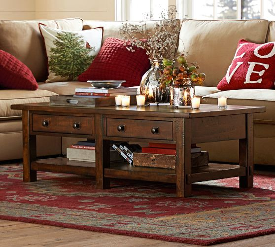 Benchwright Rectangular Coffee Table Coffee Table Pottery Barn Family Room Furniture Table