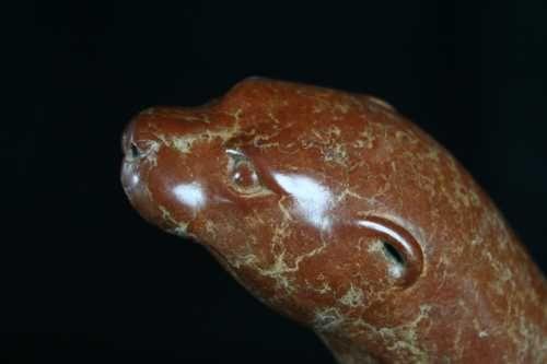 #Bronze #sculpture by #sculptor Adam Binder titled: 'Swimming Otter (Small Bronze Hunting sculpture statue)'. #AdamBinder