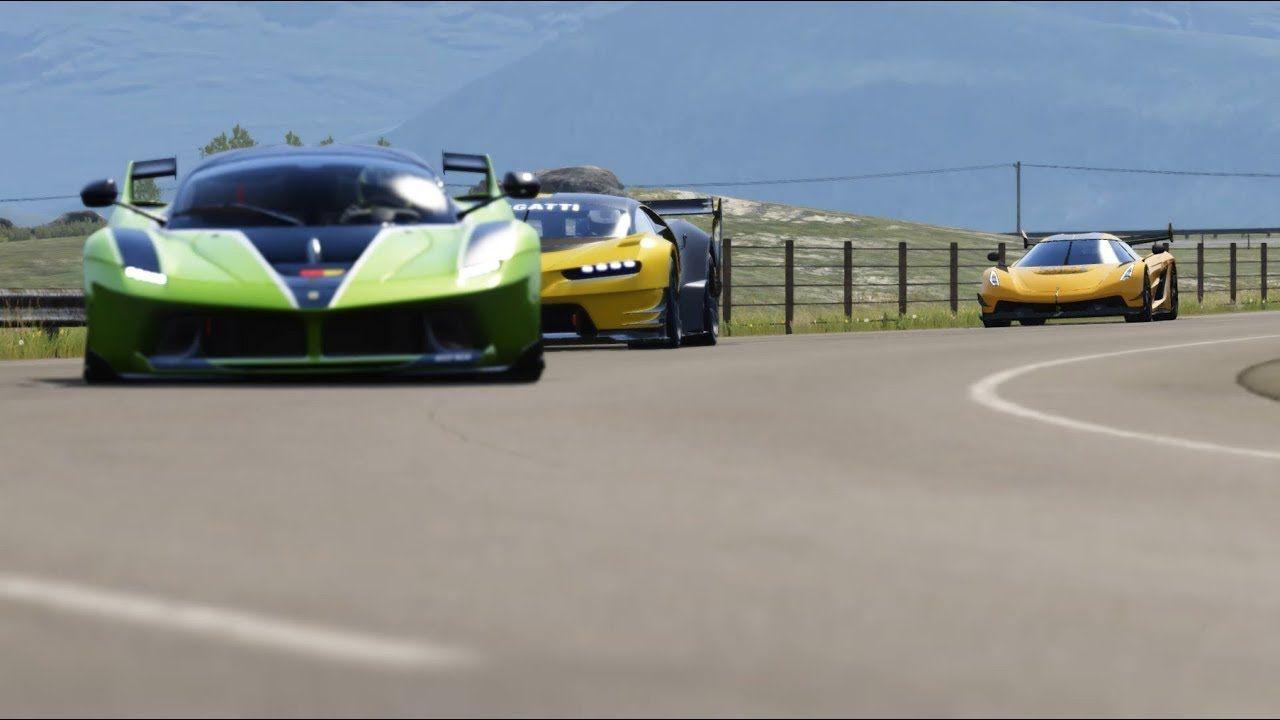 Koenigsegg Jesko vs Bugatti Vision GT vs Ferrari FXX-K at Highlands