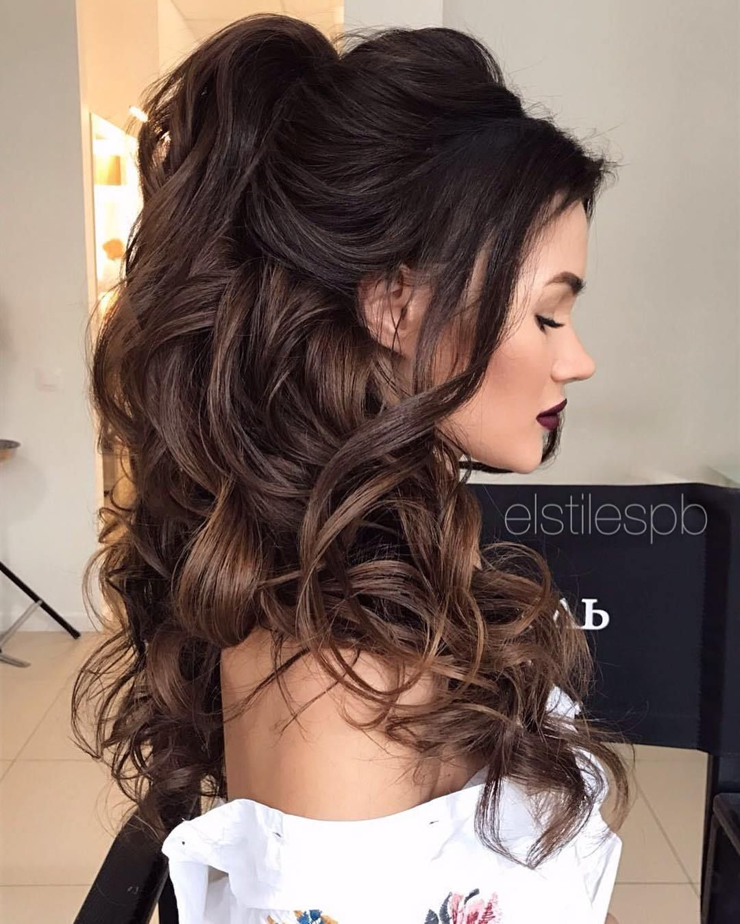 Discover More Ways To Style Your Hair For Your Next Prom Or Pageant Hair Hairstyle Pageant Prom Curlyha Hair Styles Medium Hair Styles Long Hair Styles