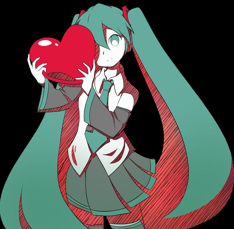 Streaming Heart Miku by luko3artist on DeviantArt Miku