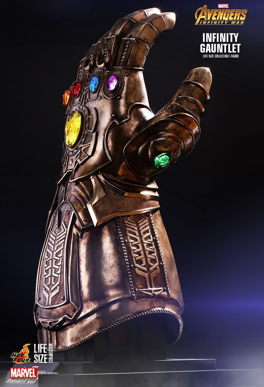 Hot Toys Avengers Infinity War Infinity Gauntlet Life Size Collectible Marvel Infinity Hot Toys Replica Prop