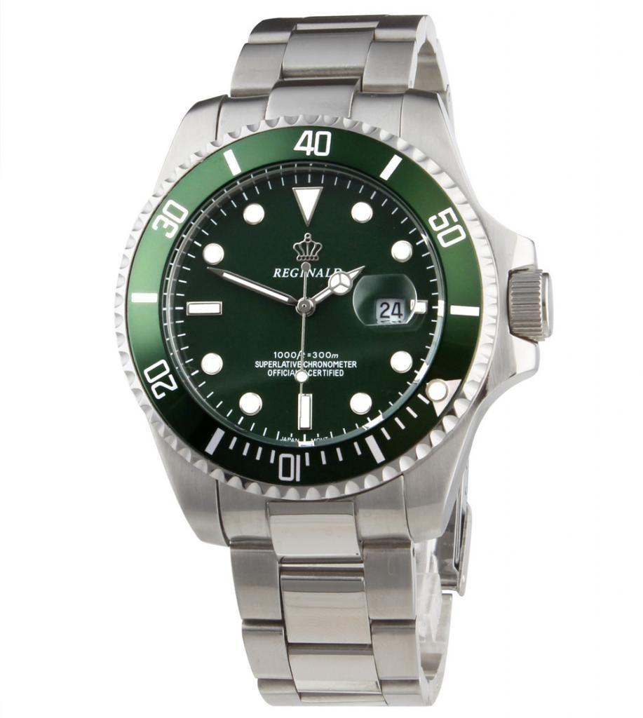 Cristal de zafiro fecha reginald reloj hombres de lujo gmt bisel giratorio  de acero inoxidable mujeres b664dd4b20e