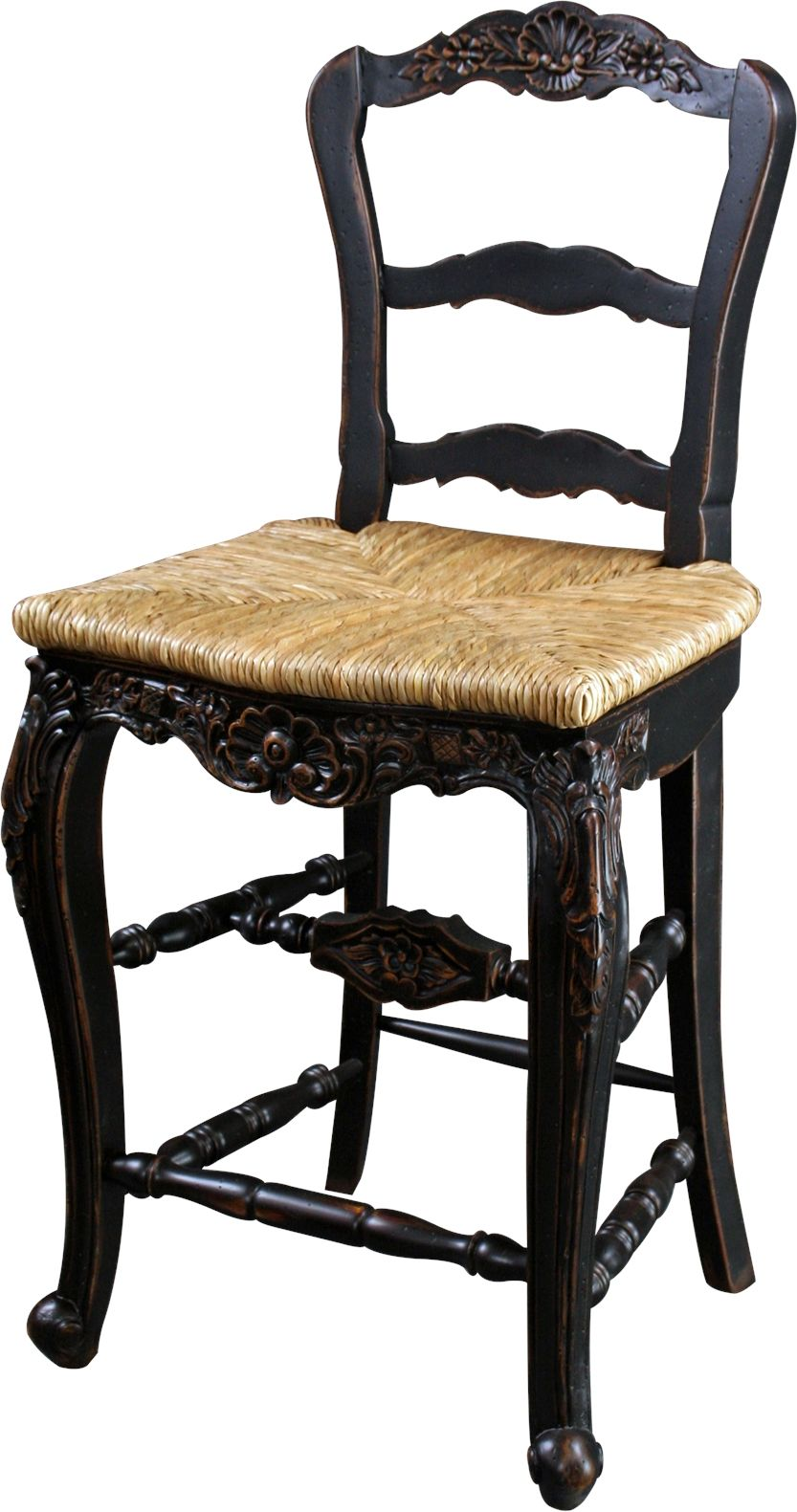 New Counter Height Stool Black French Country Rattan Sturdy Stretcher Cons Bg 31 French Country Farmhouse Country Bar Stools Country Farmhouse