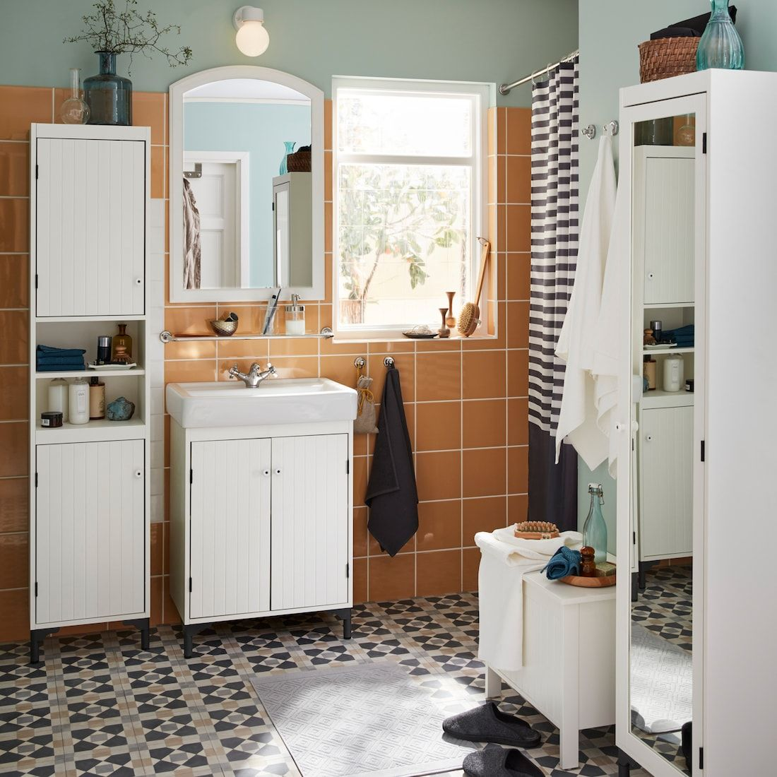Badrumsinspiration In 2020 Bathroom Furniture Inspiration Ikea Bathroom Bathroom Cabinet Makeover