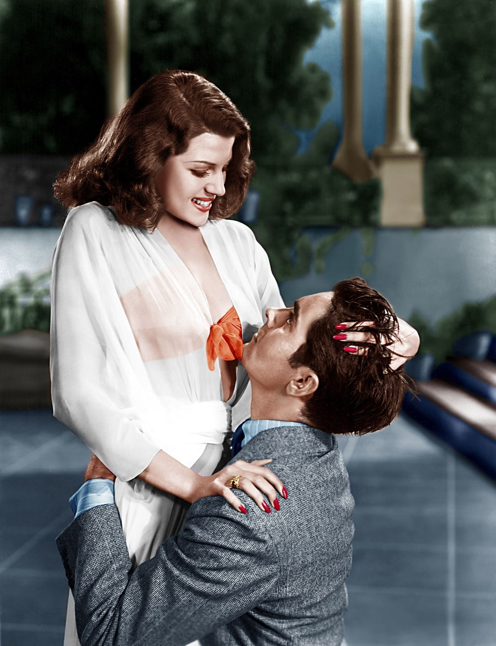 Rita Hayworth In Blood And Sand With Tyrone