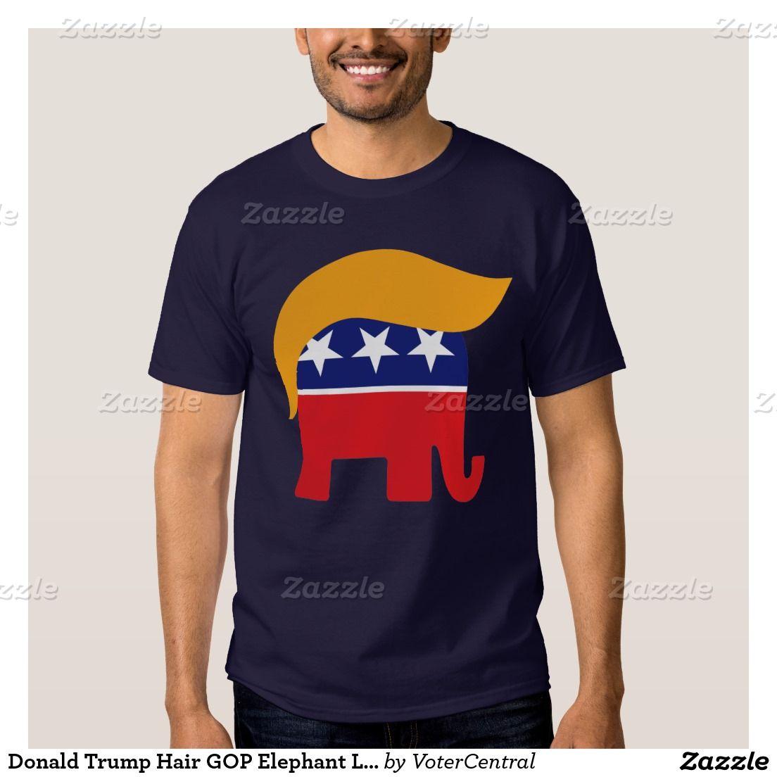 71692cd74c012b Donald Trump Hair GOP Elephant Logo T-Shirt