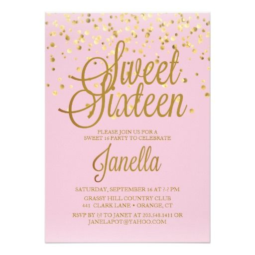 sweet 16 invitations zazzle com