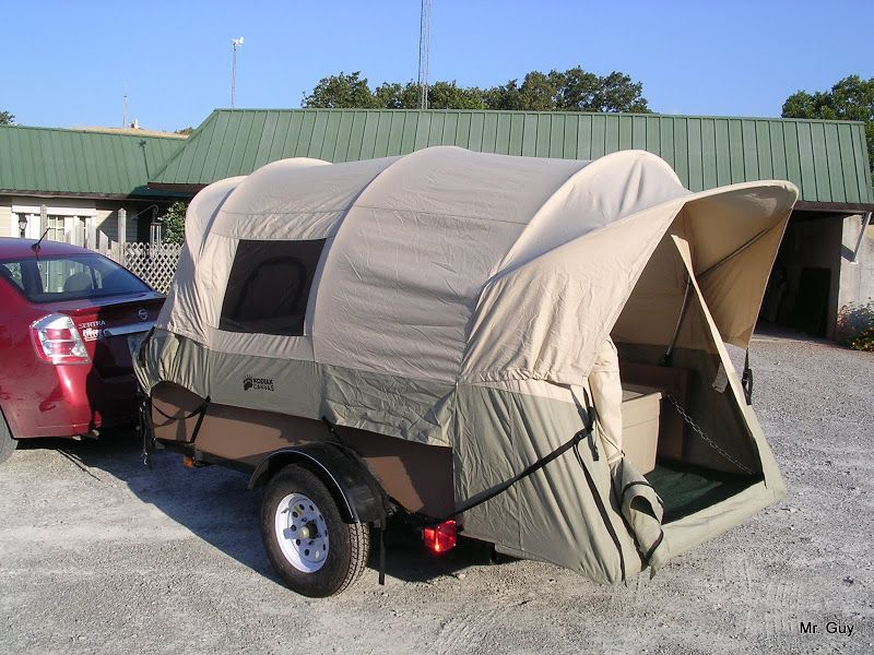 Tent Trailers Vehicle : Diy tent trailer this is a truck bed on