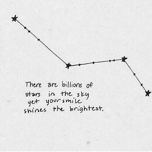 there are billions of stars in the sky yet your smile shines the