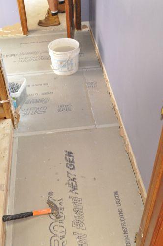 How To Install Cement Board Cbu For Floor Tile Tile Floor Diy