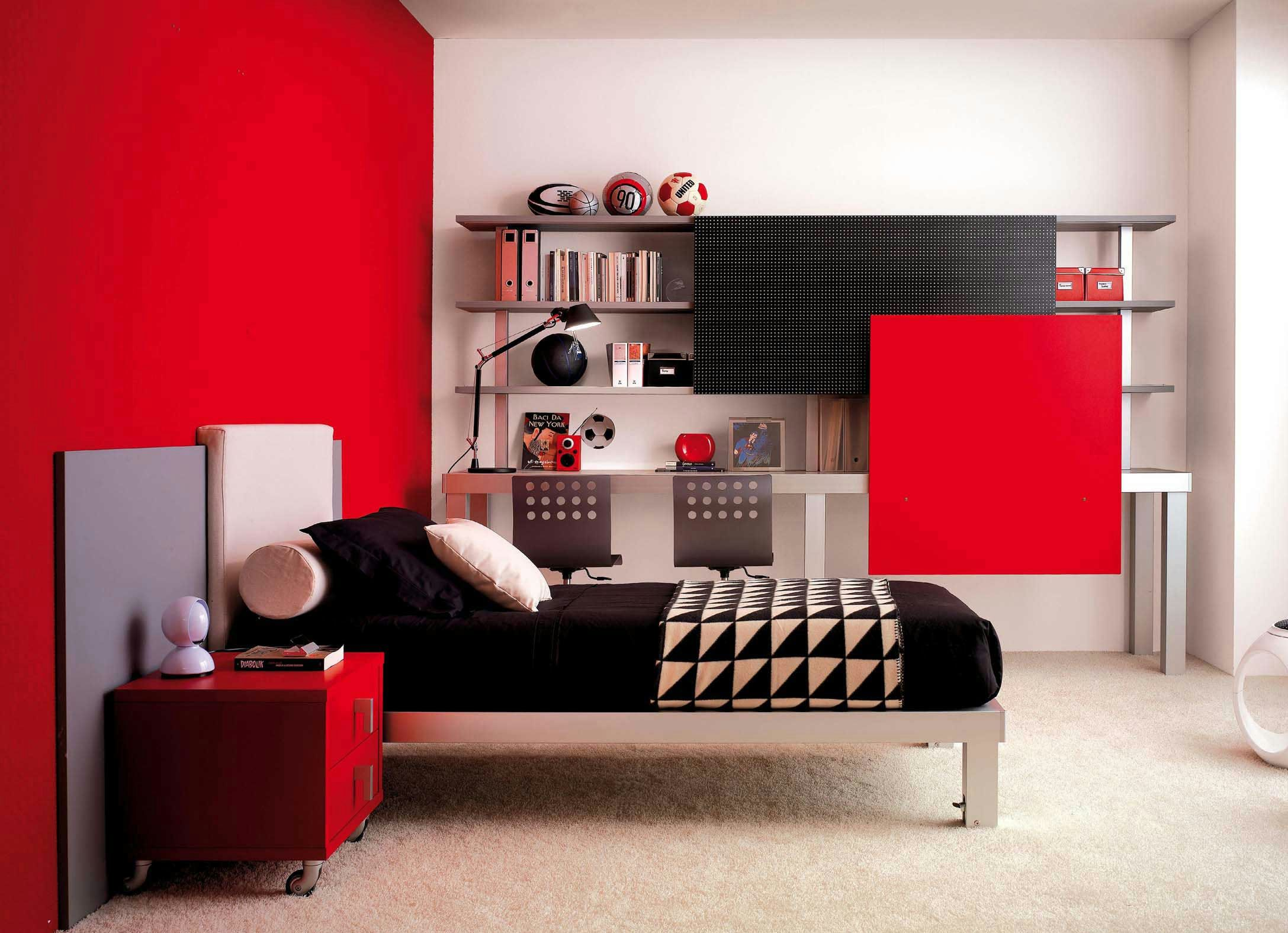 Painting Ideas Red And White Of Wall Decoration Paint In Cool Bedroom