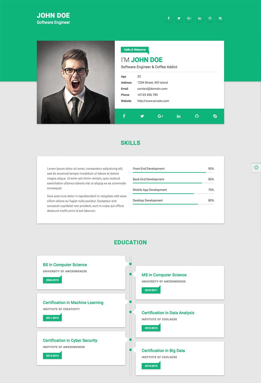 Resultat De Recherche D Images Pour Web Resume Ide