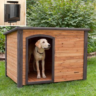 Precision Outback Log Cabin Dog House With Heater Dog Houses At