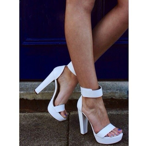 style fashion ankle strap high heels