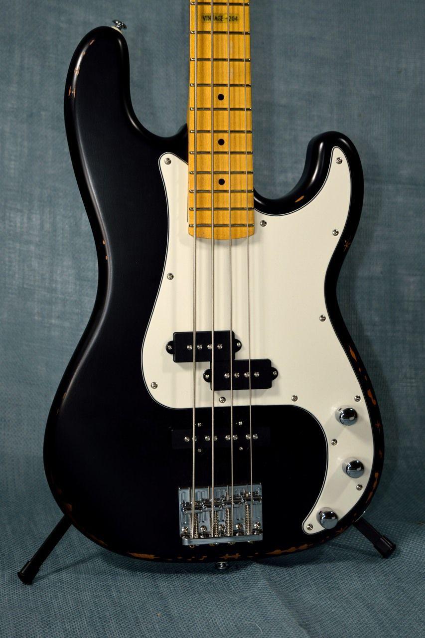 Esp Ltd Vintage 204 Blk Electric Bass Black Electric Bass Bass Electricity