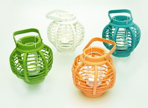Round Bamboo Tealight Lantern - 4 colors