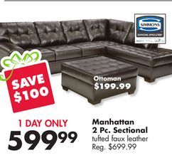 Manhattan 2 Pc Sectional From Big Lots 599 99 Save 100 Big Lots Sectional Big